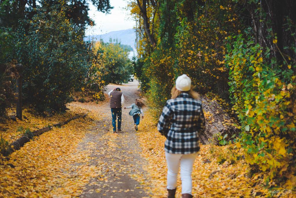 sesión de fotos en otoño en bariloche
