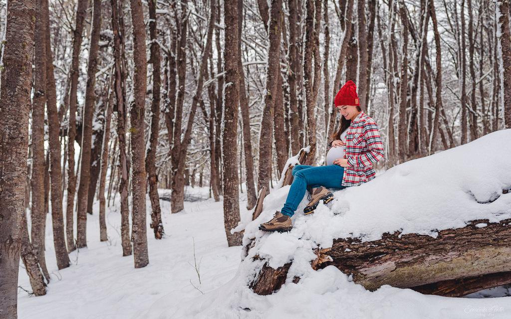 ensaio fotográfico gestante bariloche neve