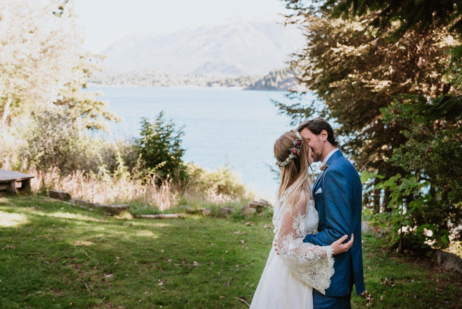 fotos boda de día en bariloche