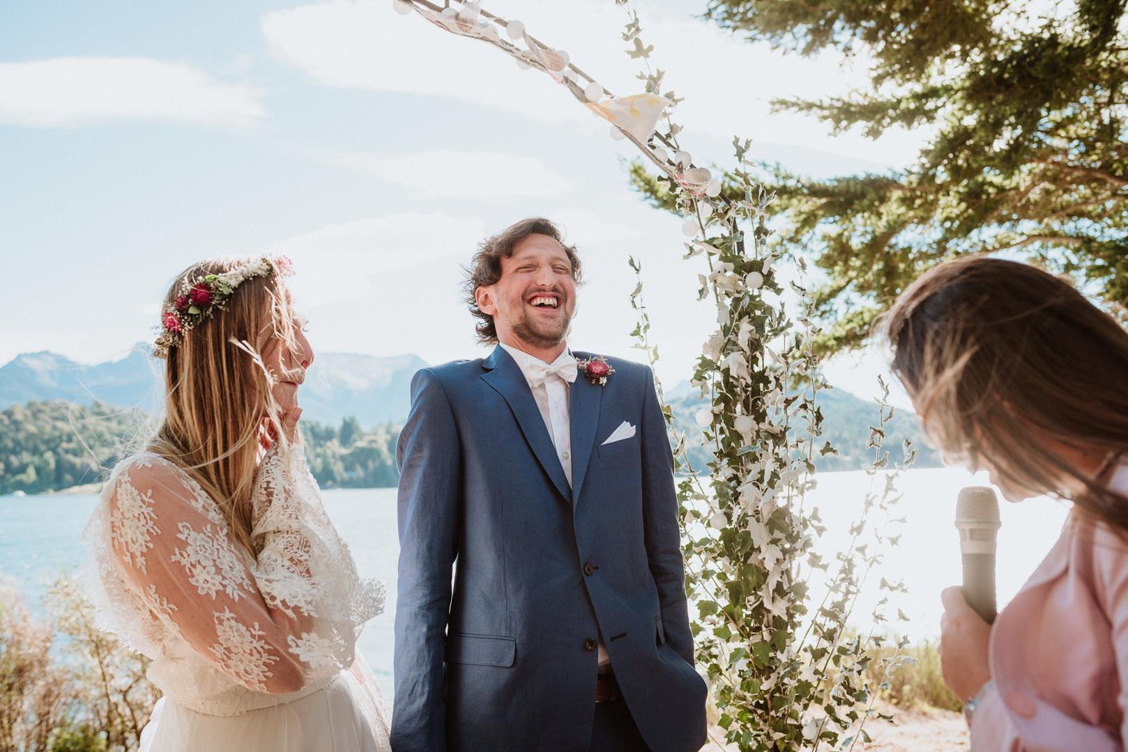 fotos casamiento en el lago en bariloche patagonia argentina