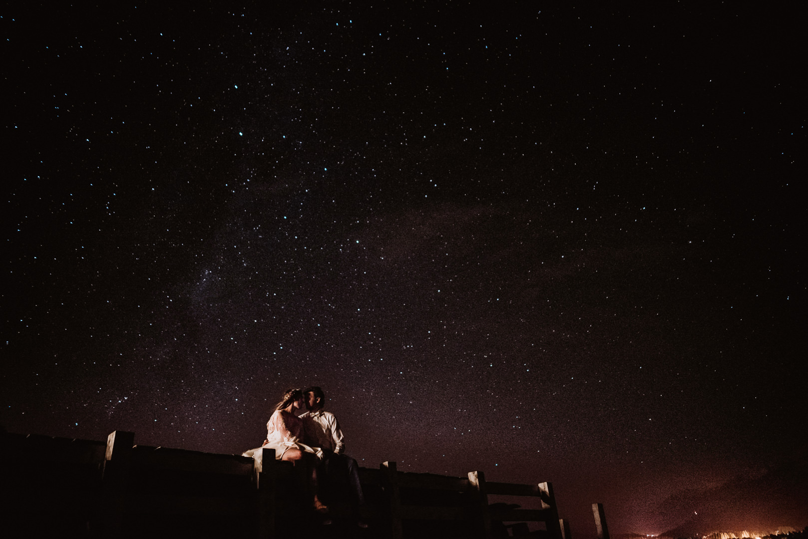 fotografo boda de noche bariloche estrellas