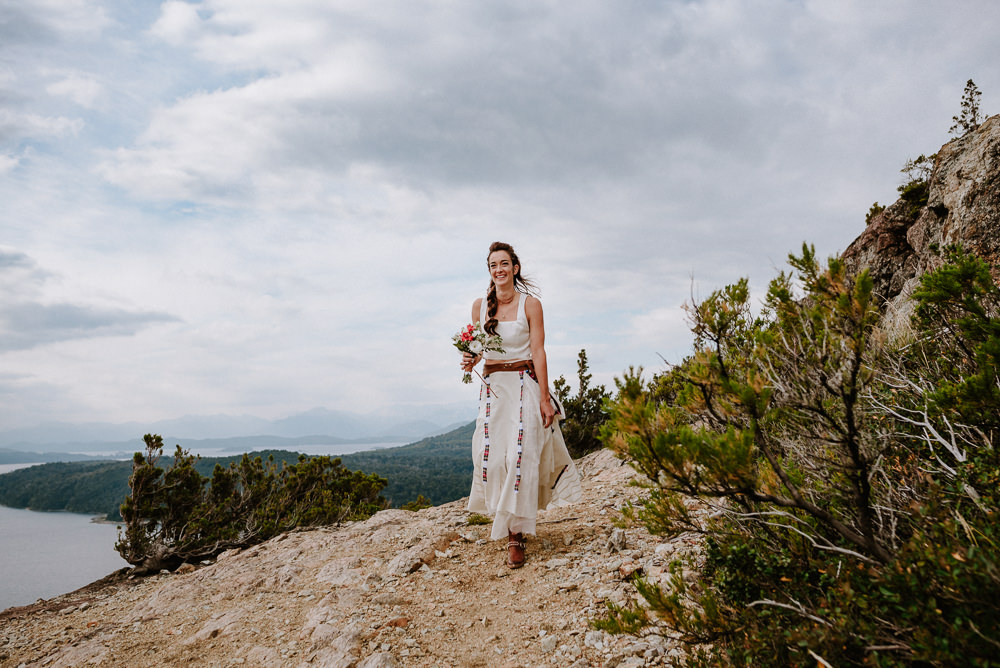 mountain elopement wedding patagonia