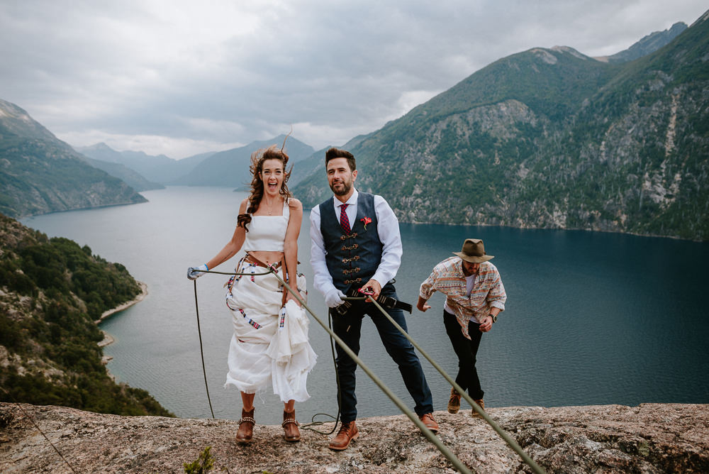 climbers mountain wedding bariloche patagonia argentina