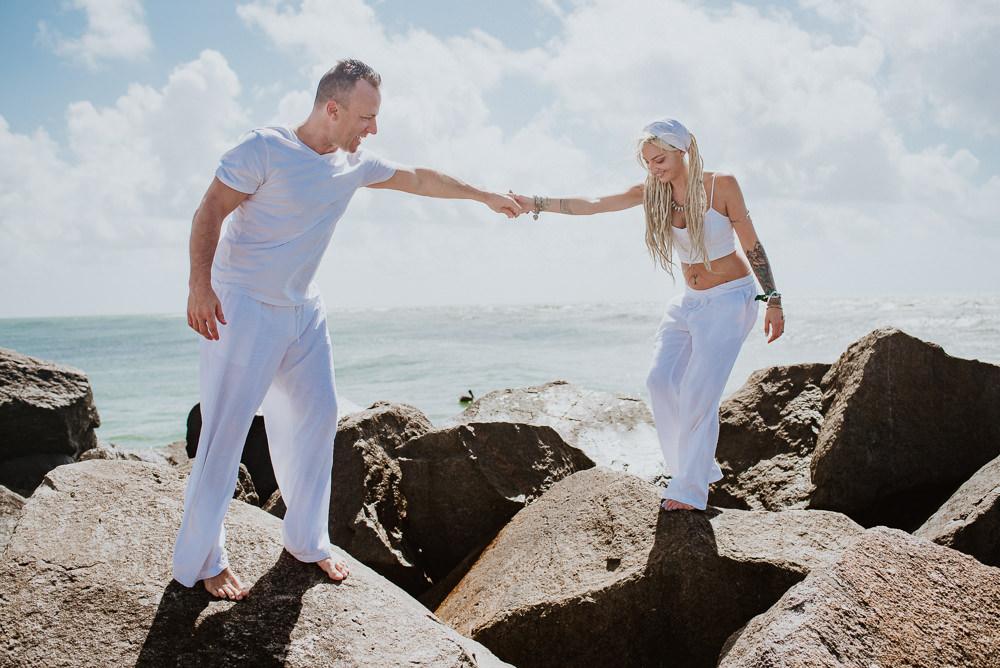 casamiento a la orilla del mar