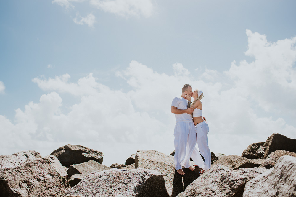 engagement photo session at the beach