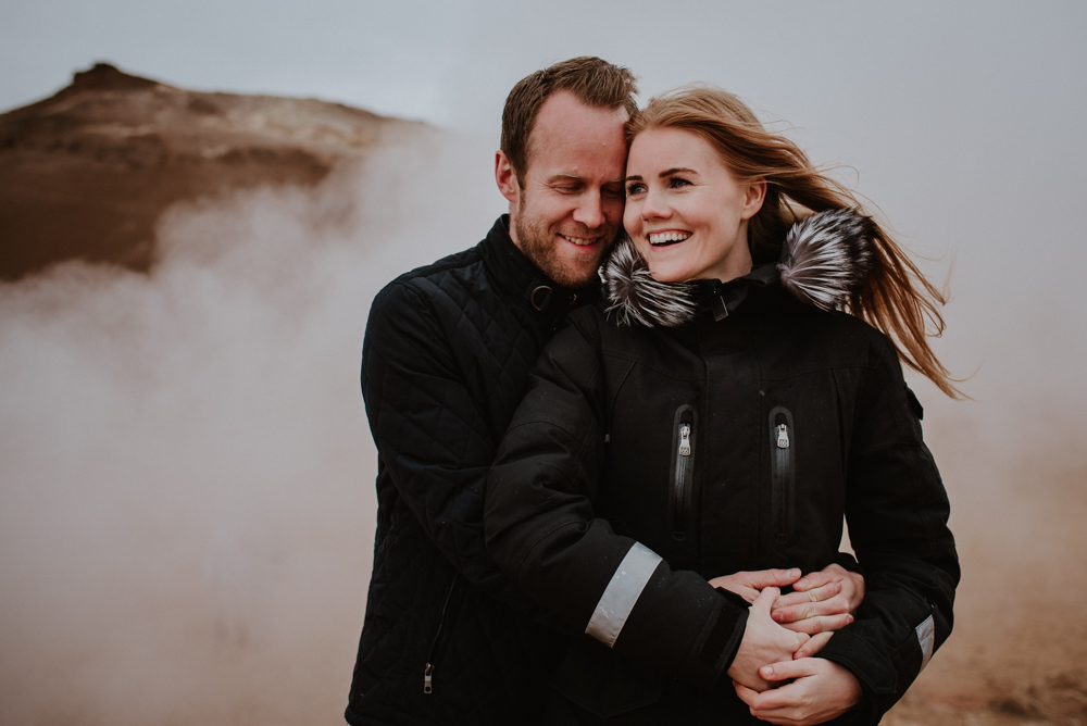 iceland engagement photo session