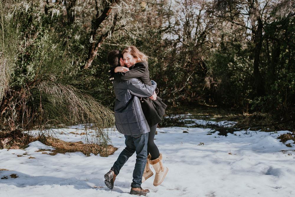 ensaio fotografico casal na neve bariloche