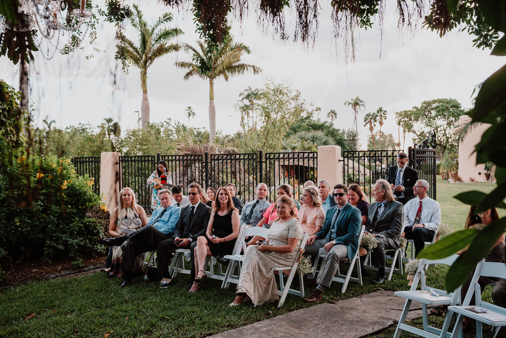 wedding ceremony at curtiss mansion miami