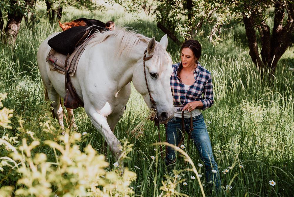 sesión de fotos con caballos bariloche