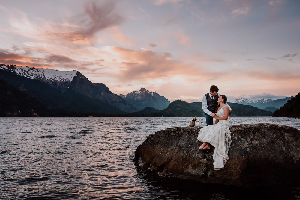 lake mountain wedding patagonia