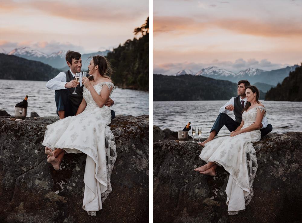 boda en el lago bariloche patagonia argentina