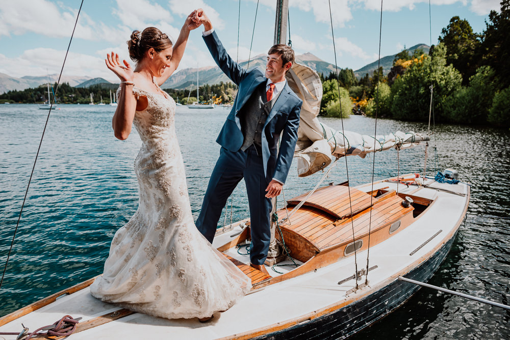 wedding on a sailboat