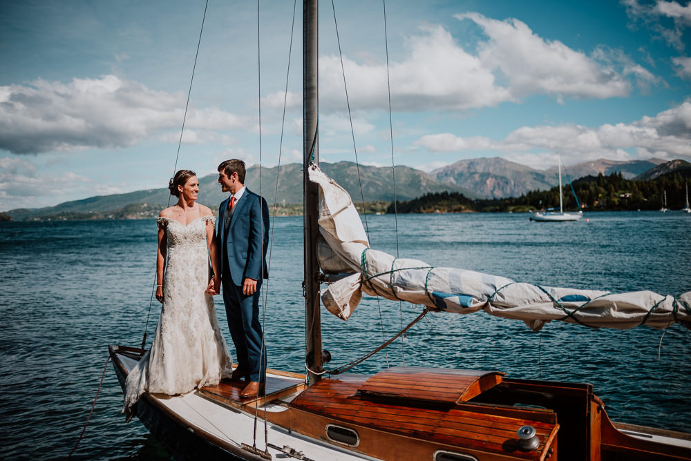 sailboat wedding photo session