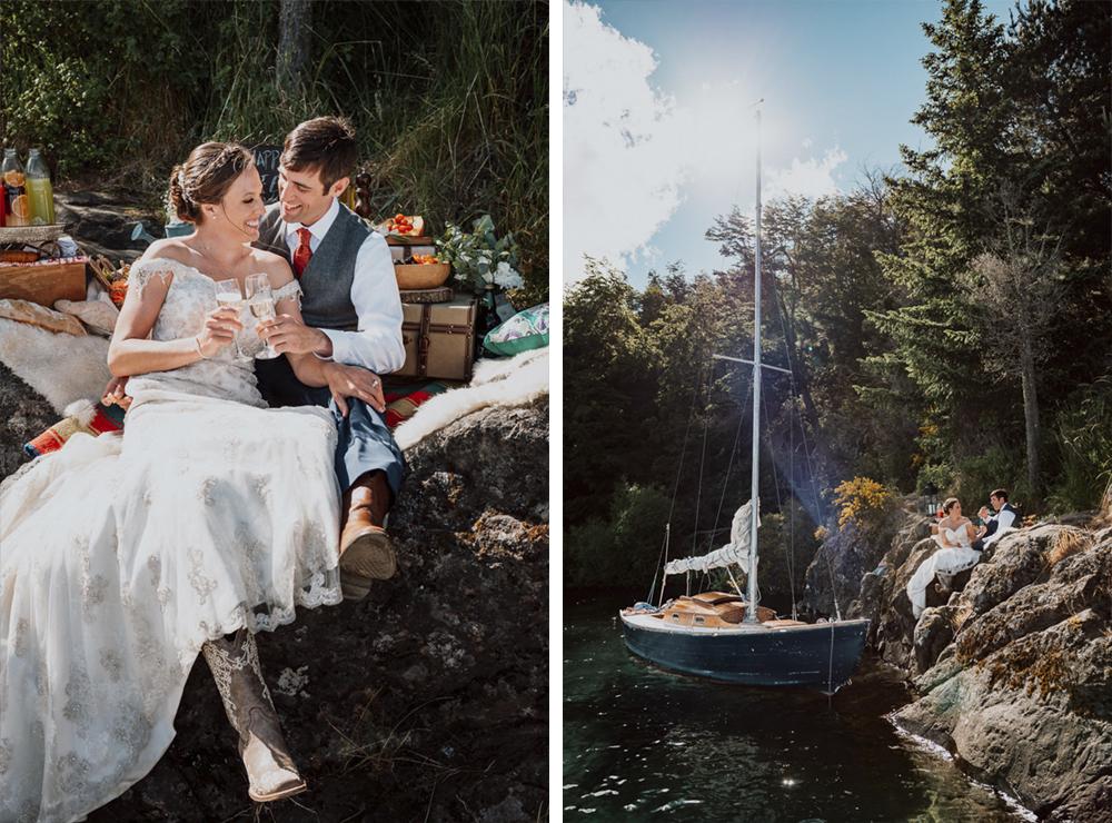 casamiento en un velero lago nahuel huapi bariloche