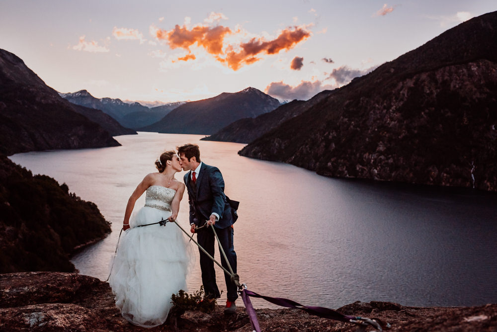 rappel mountain wedding bariloche patagonia