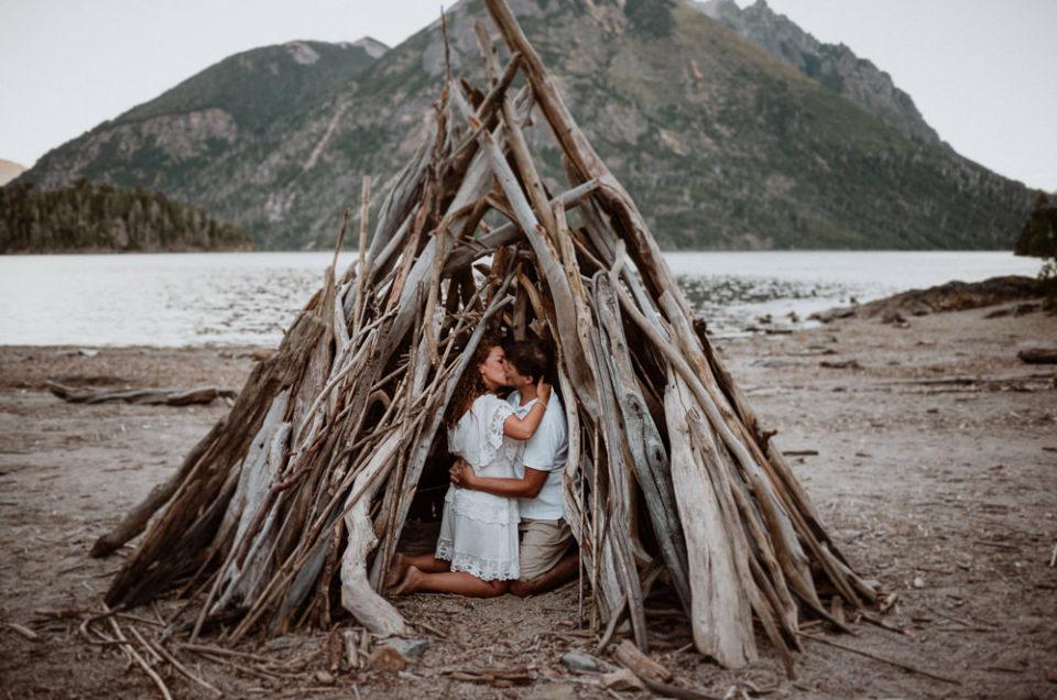 Marian & Gabo | Playa los Troncos Lago Moreno