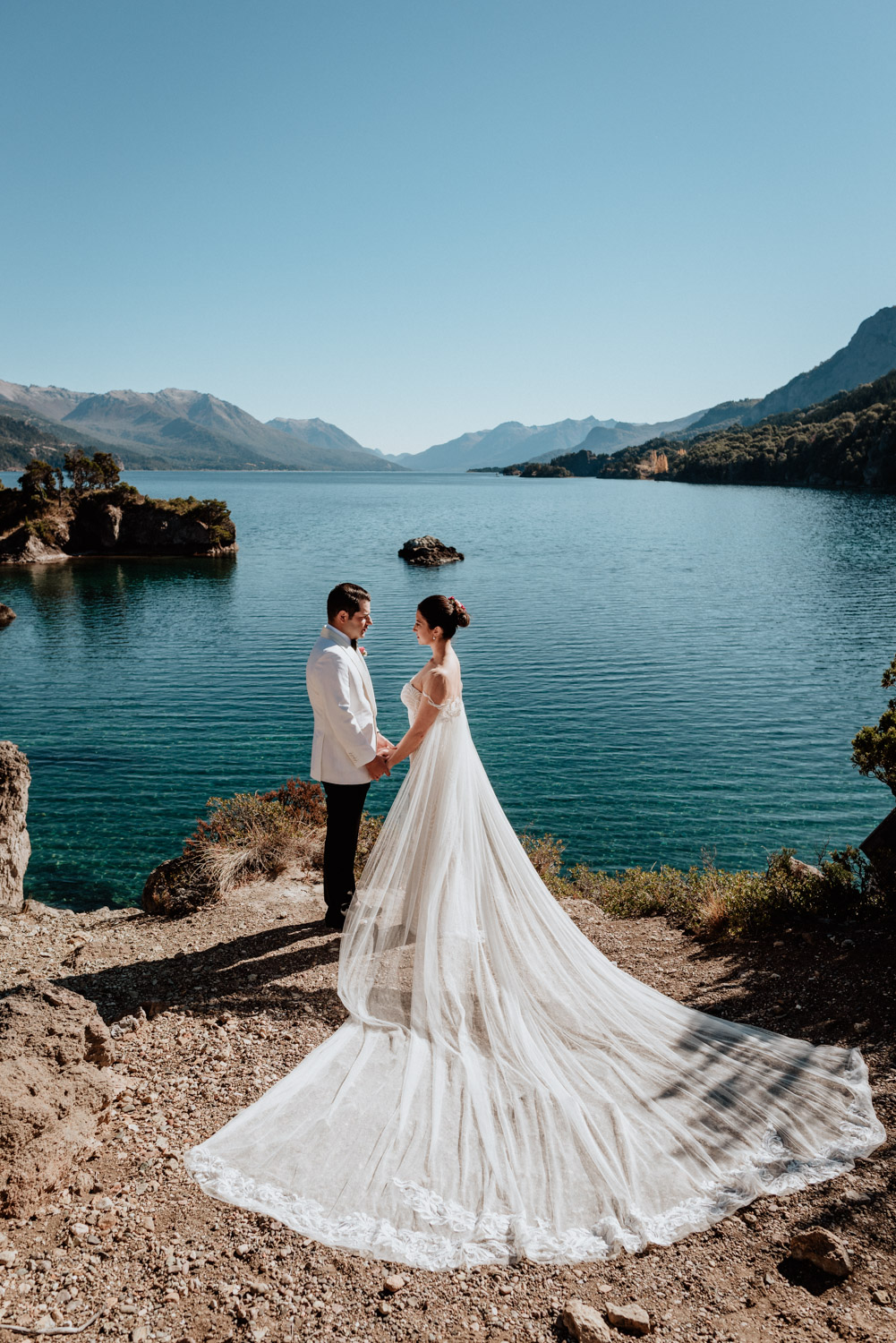 patagonia elopement wedding lake shore