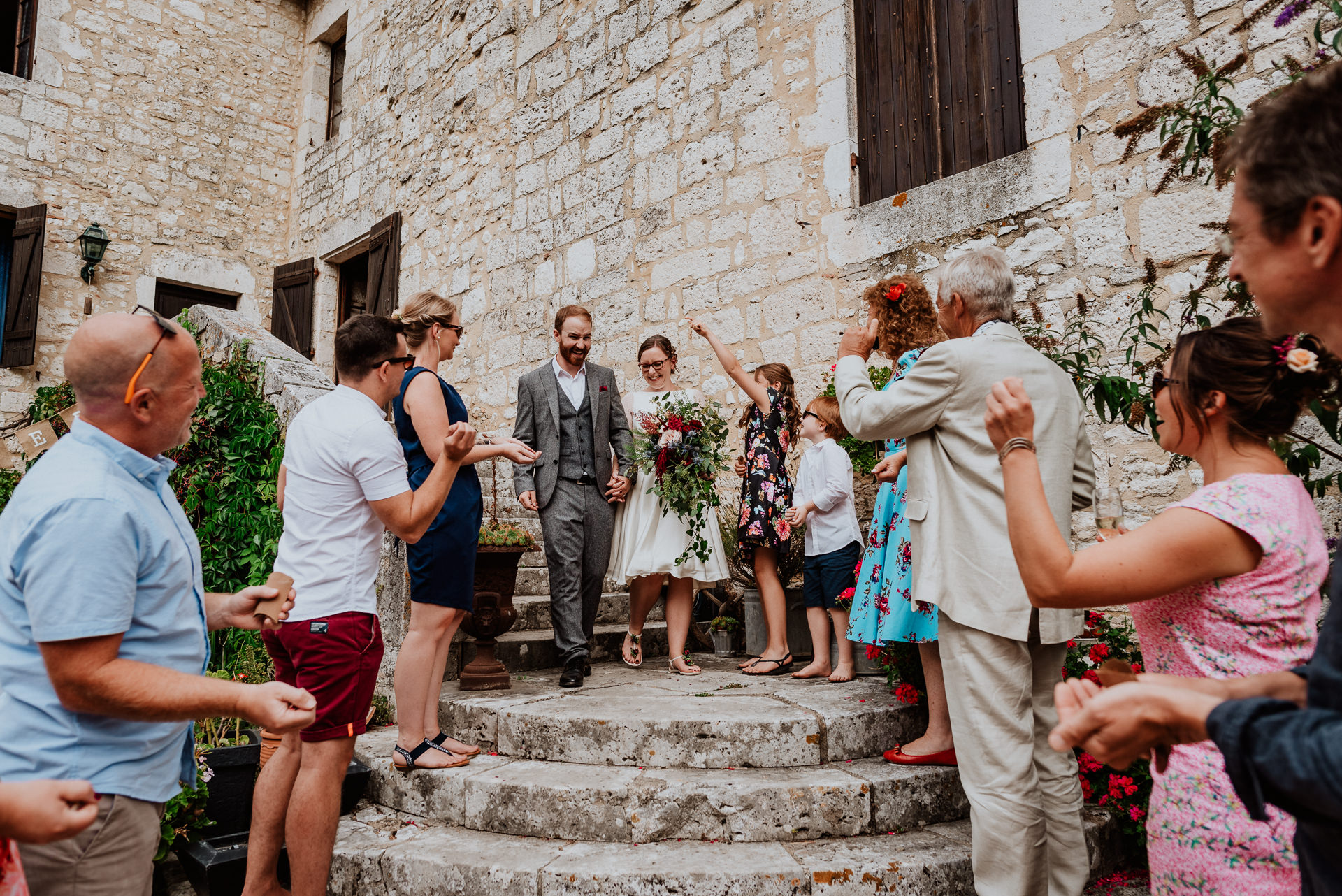 elopement wedding in french castle