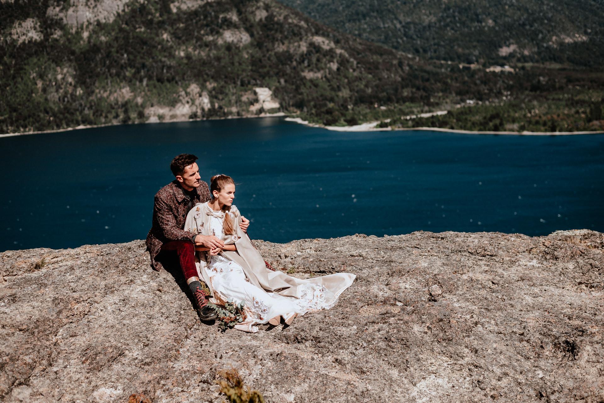 elopement wedding in the mountains bariloche