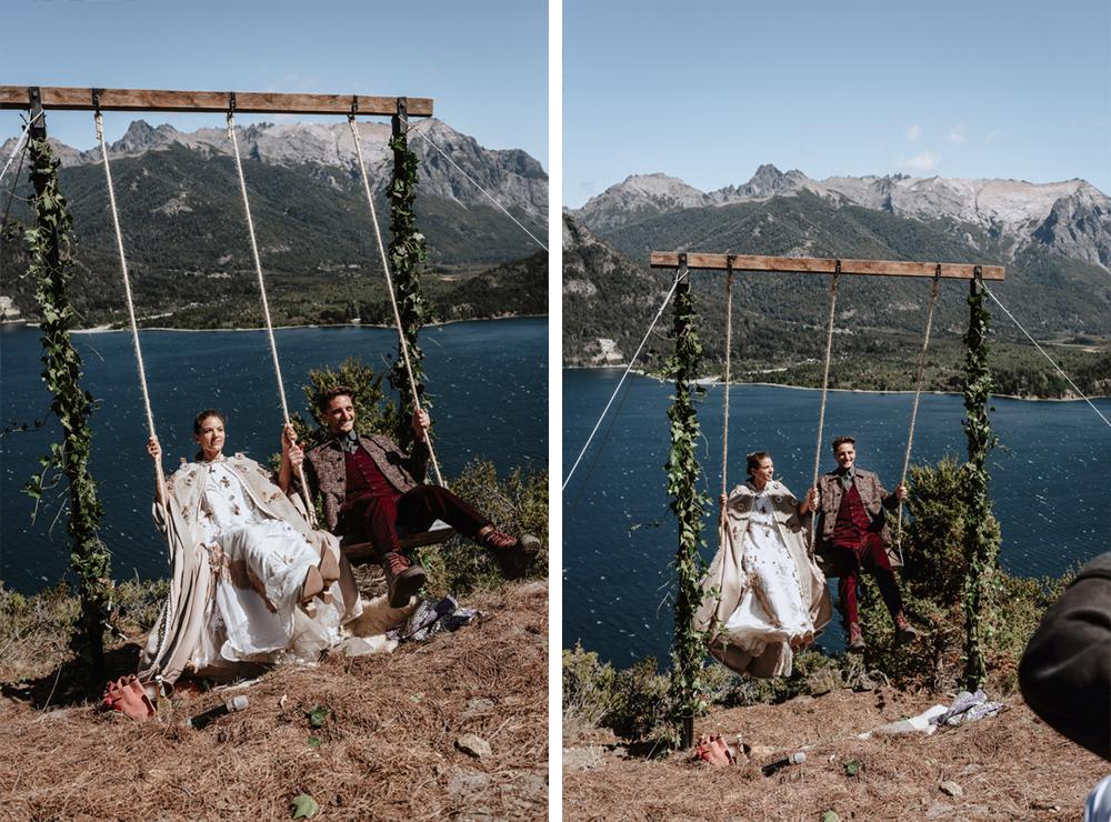hammock wedding in patagonia