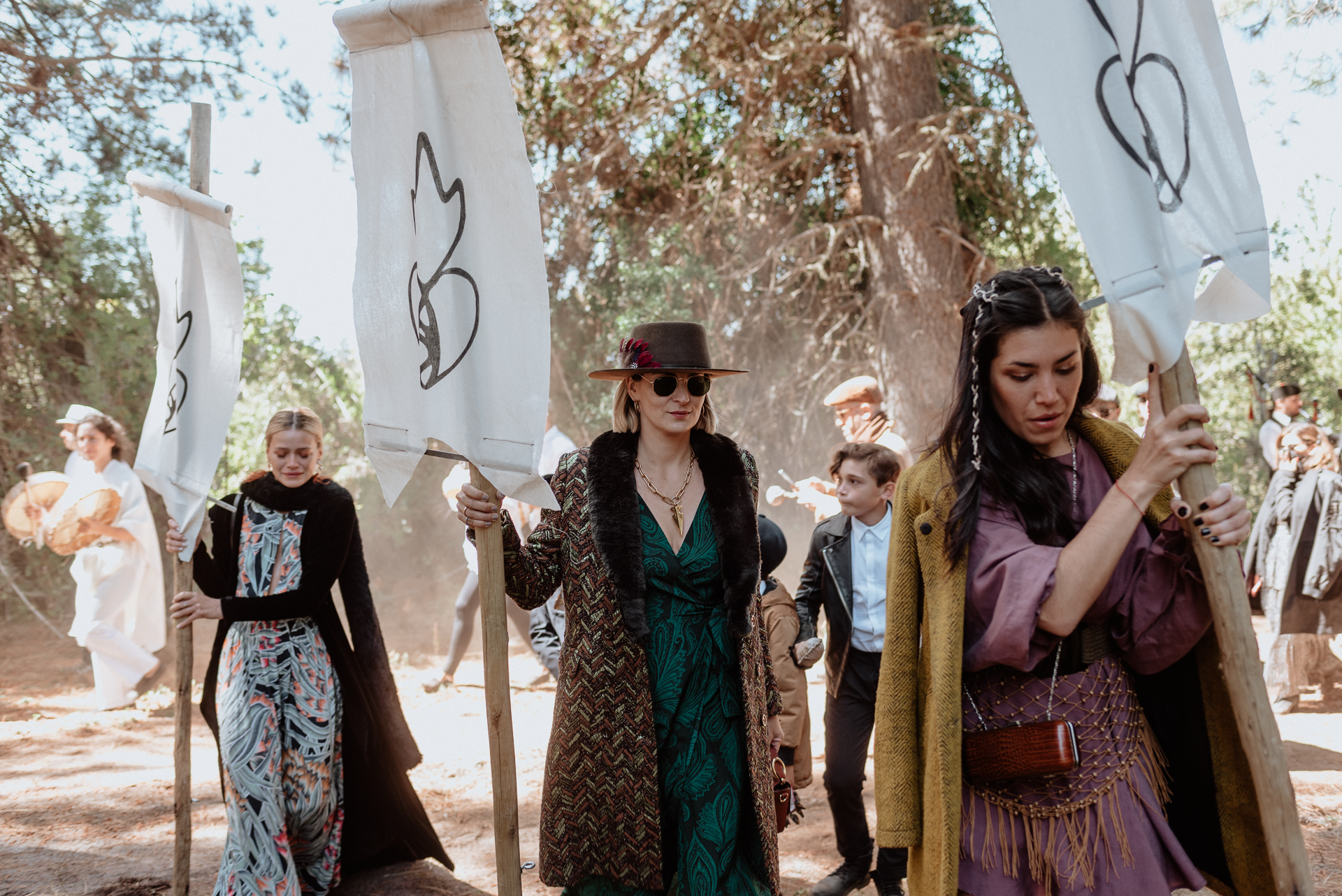 celtic wedding in the forest